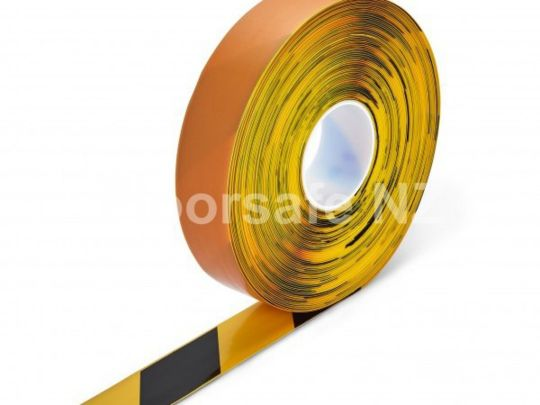 PermaStripe Smooth line marking tape 50mm x 30m Black/Yellow Hazard