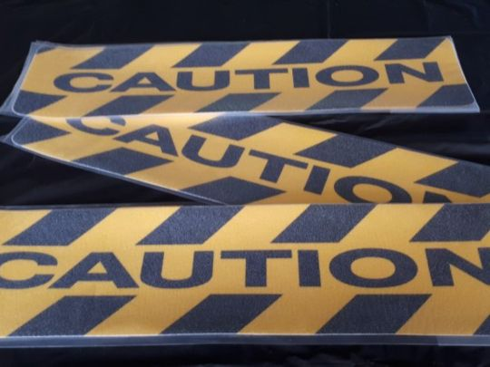 Caution mats - self adhesive